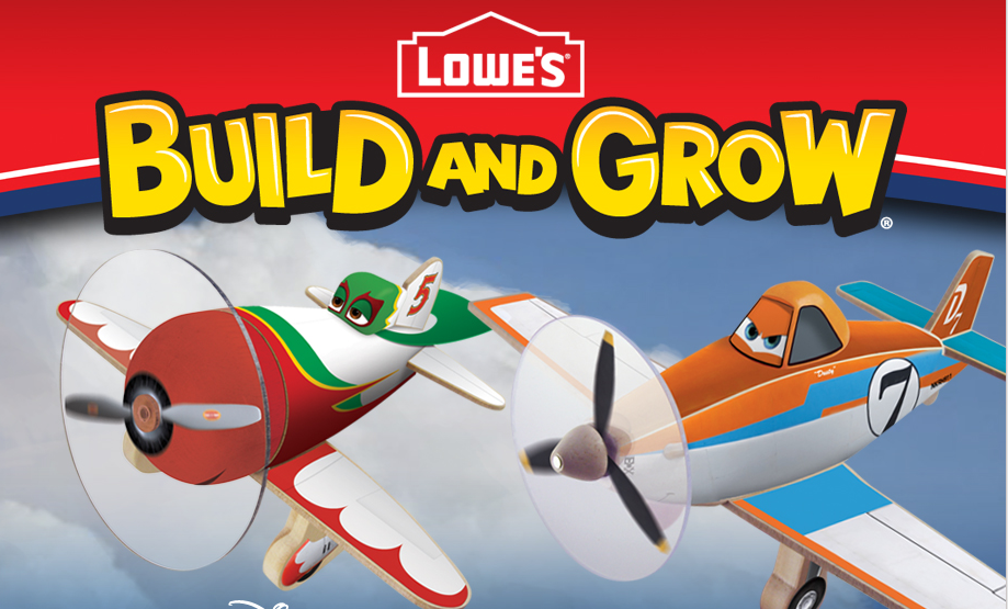 FREE Disney's Planes Build and Grow Clinics at Lowe's