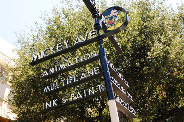 disneyland street sign