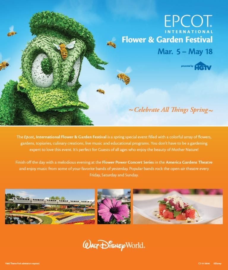 flower and garden flier