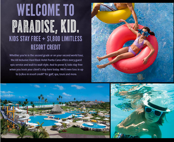 kids stay free and resort credit