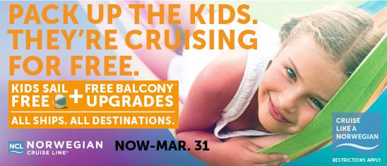 kids sail free ncl