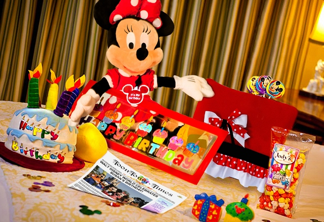 New Disney World Birthday Celebration In Room Gifts Available