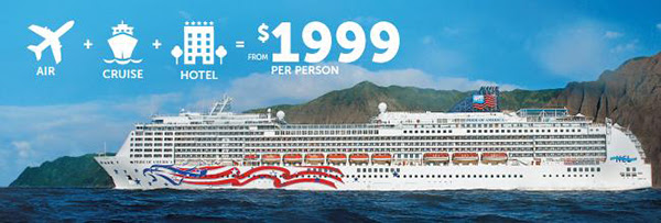 hawaii air+cruise+hotel