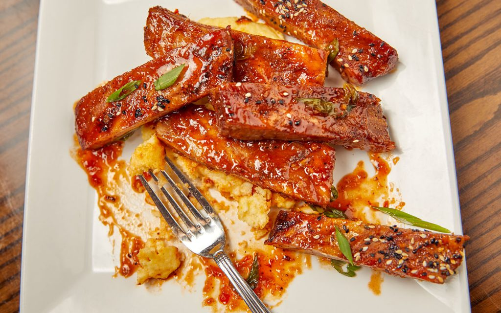 sweet and sour sticky ribs from Confisco Grille
