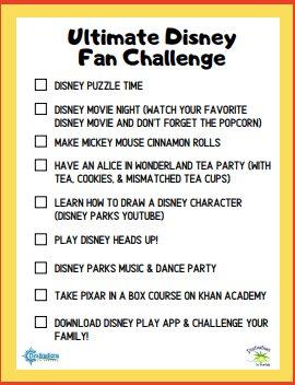 Disney fan challenge