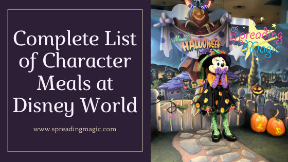 Character Meals at Disney World
