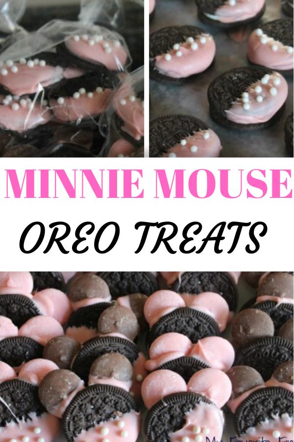 Minnie Mouse oreo treats