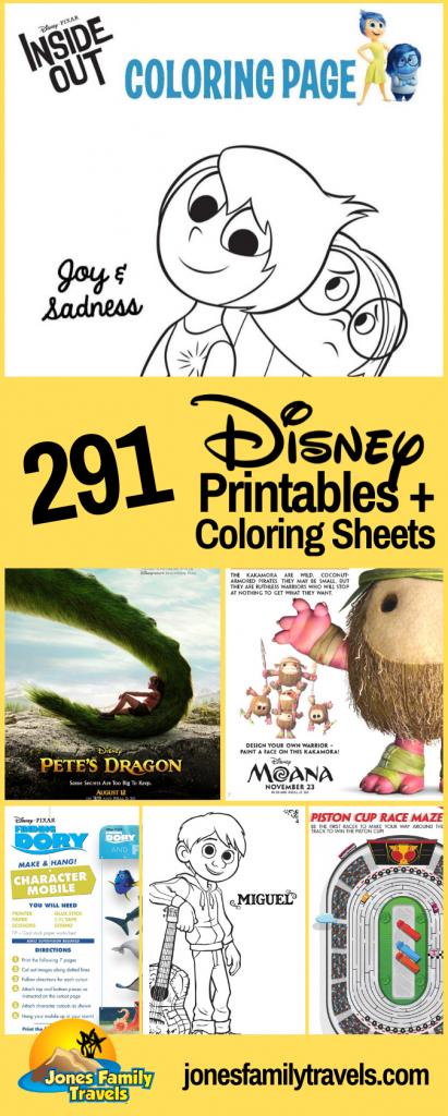 Disney coloring sheets