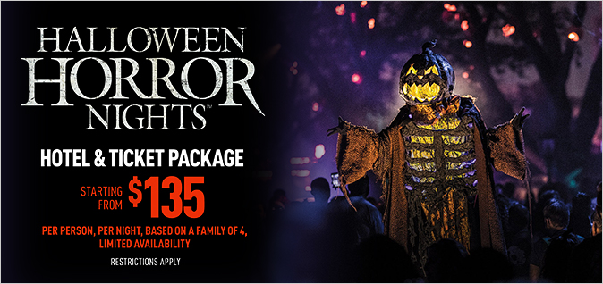 Halloween Horror Nights Vacation Package
