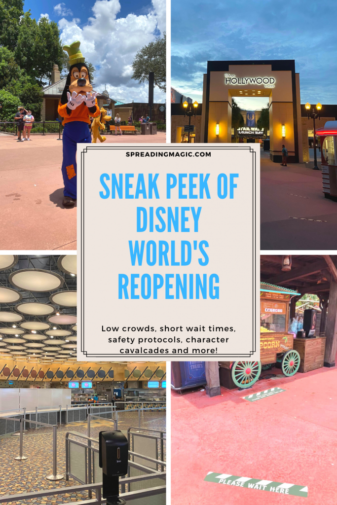 sneak peek at Disney World's phased reopening