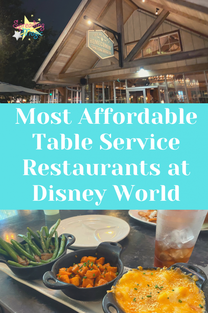 Top Most Affordable Table Service Restaurants at Disney World