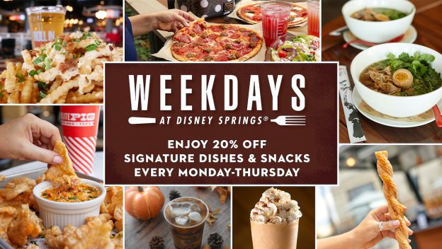 Weekdays at Disney Springs: Special Offer for Fall 2020 at Disney World
